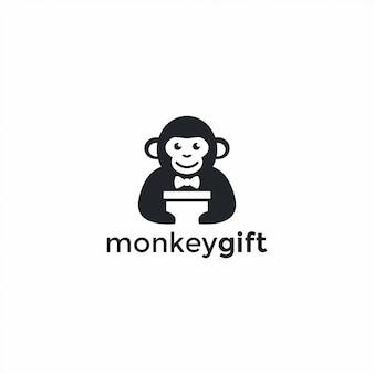 Affe geschenk logo