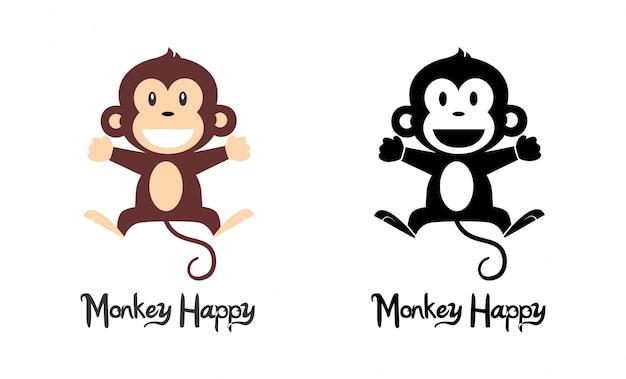 Affe glücklich