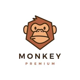 Affe schimpanse gorilla logo
