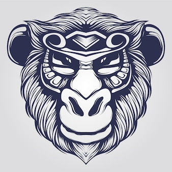 Affe strichzeichnungen