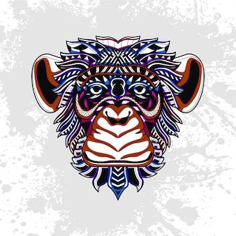 Affe verziert mit abstrakten formen