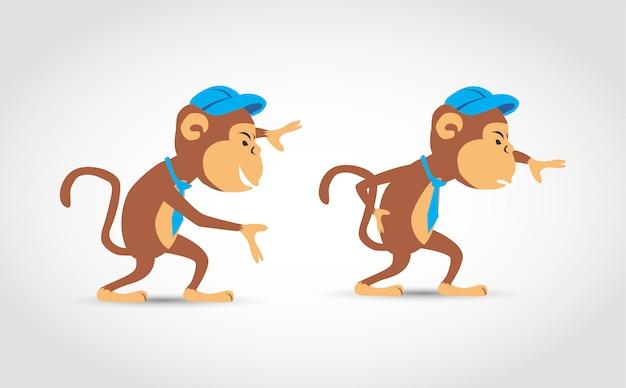 Affe zeichentrickfigur