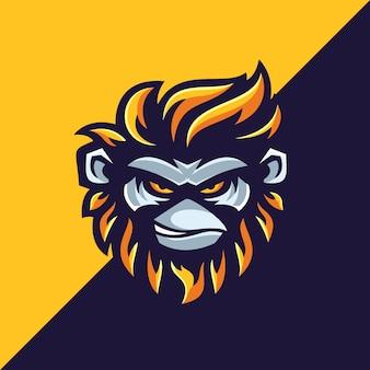 Affen-logo-vorlagen