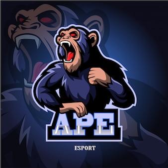 Affen maskottchen esport logo.