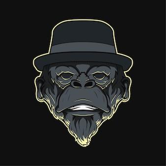 Affen maskottchen kopf