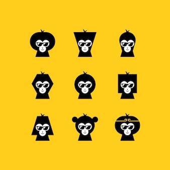 Affengesichtslogo einstellen