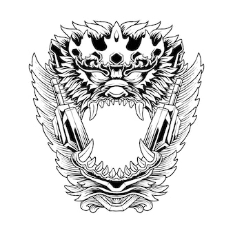 Affenkönig kopf illustration