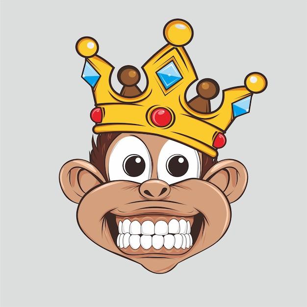Affenkönig süß mit krone