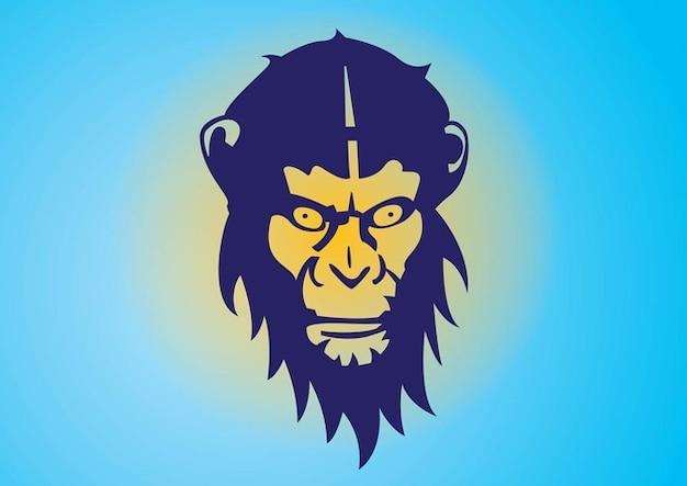 Affenkopf hintergrund