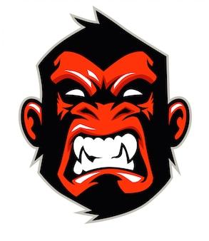 Affenkopf maskottchen
