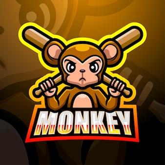 Affenmaskottchen-esportillustration
