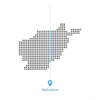 Afghanistan doled kartenentwurfsvektor