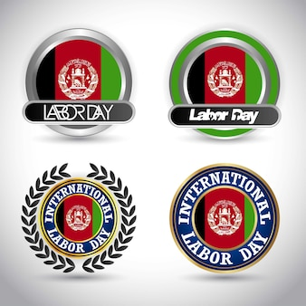 Afghanistan flag-arbeitstagesdesignvektor
