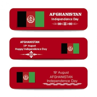 Afghanistan independence day banner-set