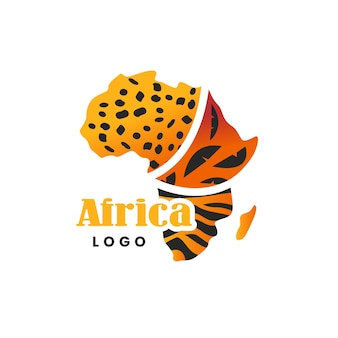 Afrika karte logo vorlage