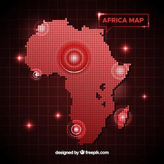 Afrika kartenhintergrund mit punkten