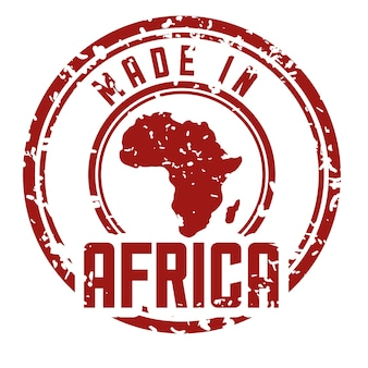 Afrika repräsentiert sein eigenes karten-design