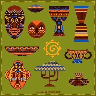 Afrikanische grafische elemente
