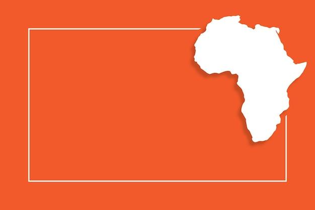 Afrikanische karte mit vektorhintergrundschablone