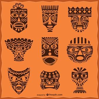 Afrikanische masken packen