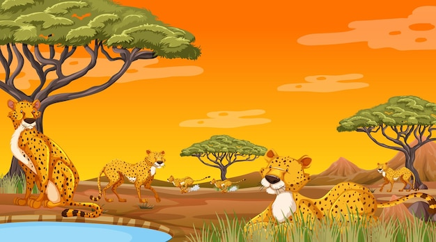 Afrikanische waldlandschaft