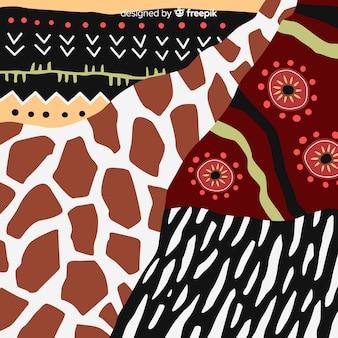 Afrikanischer gewebe- und tierhauthintergrund