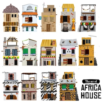 Afrikanischer hausstil