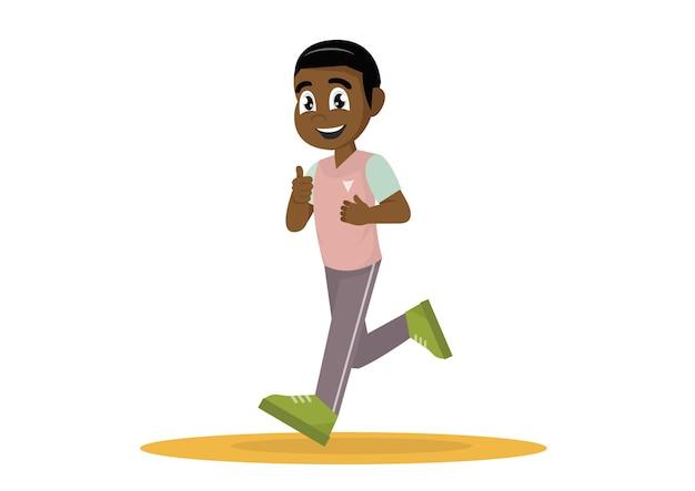 Afrikanischer laufender mann.