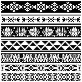 Afrikanischer und mexikanischer aztekischer amerikanischer stammes- vektor