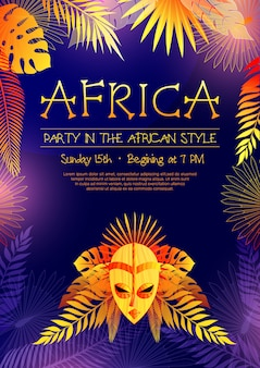 Afrikanisches art-party-plakat