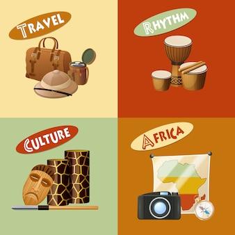 Afrikanisches design-konzept