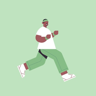 Afroamerikaner-mann, der kerl läuft, der zeit ohne gadgets digitales entgiftungskonzept des gesunden lebensstils verbringt