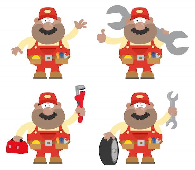 Afroamerikaner-mechaniker-charakter