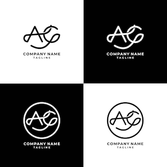 Ag logokollektion premium-vektor