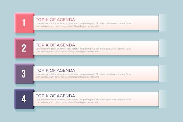 Agenda chart infografik konzept