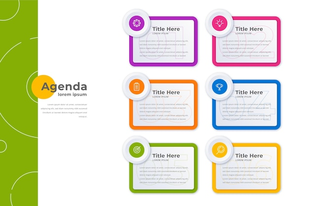 Agenda chart infografik