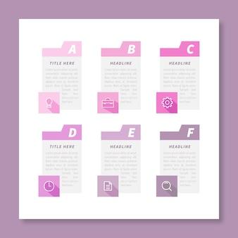Agenda-diagramm für infografik-vorlagen