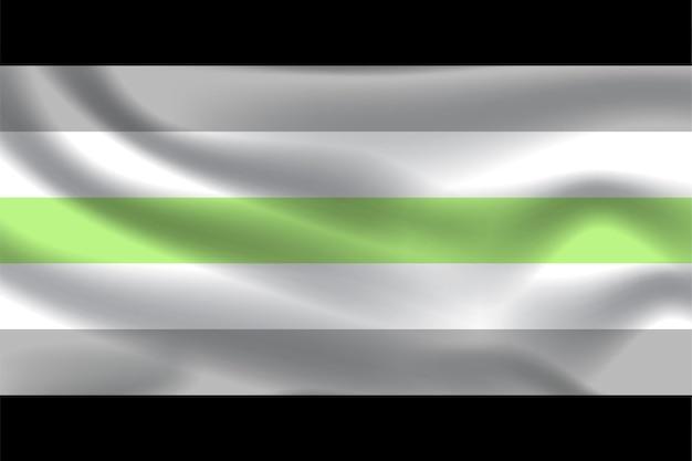 Agender-flagge für lgbtq-freie vektorillustration