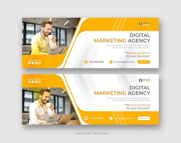 Agentur für digitales marketing und geschäftslösung decken banner instagram social media post-design ab