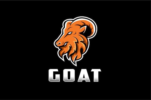 Aggressives ziegenmaskottchen-logo