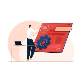 Agile-organisationsentwicklungsmethodik und computersprache agile softwareentwicklung mit internet und netzwerk