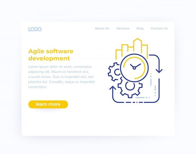 Agile softwareentwicklung, website-vorlage