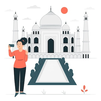 Agra konzeptillustration