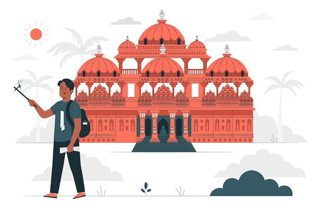Ahmedabad konzeptillustration