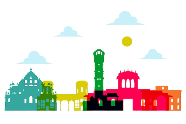 Ahmedabad skyline