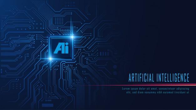 Ai-chipsatz auf platine