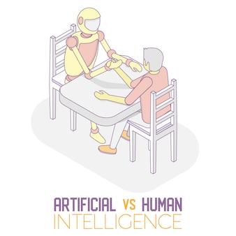 Ai gegen menschliches isometrisches