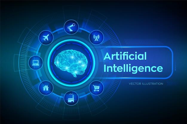 Ai. künstliche intelligenz. digitales gehirn.