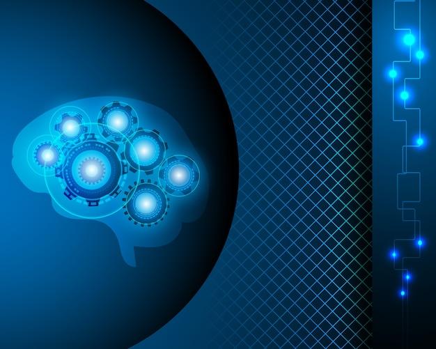 Ai robot brain netzwerkkonzept