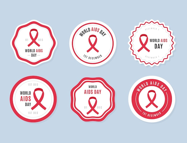 Aids day labels pack